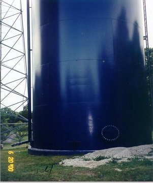 JUNE 20, 2000 The welded tank is dry and as neat and clean now as it was 2 1/2 years ago.